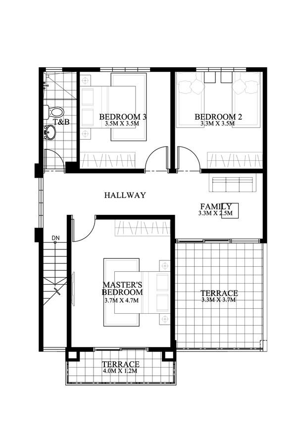 Dexter model second floor plan