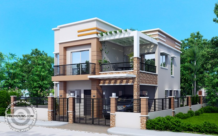 Carlo 4 bedroom 2 story house floor plan pinoy eplans for 2 storey apartment floor plans philippines
