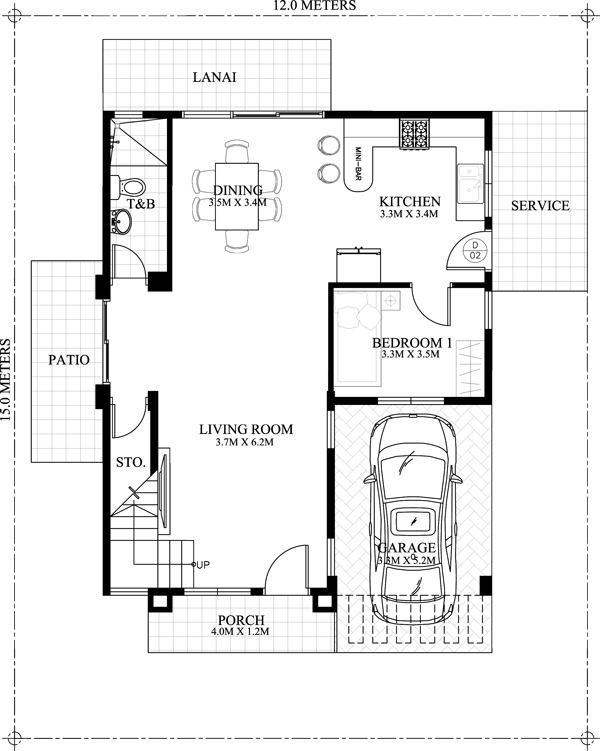 carlo 4 bedroom 2 story house floor plan pinoy eplans