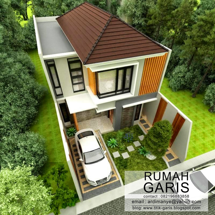Two story narrow lot house plan pinoy eplans for Small house plans for narrow lots
