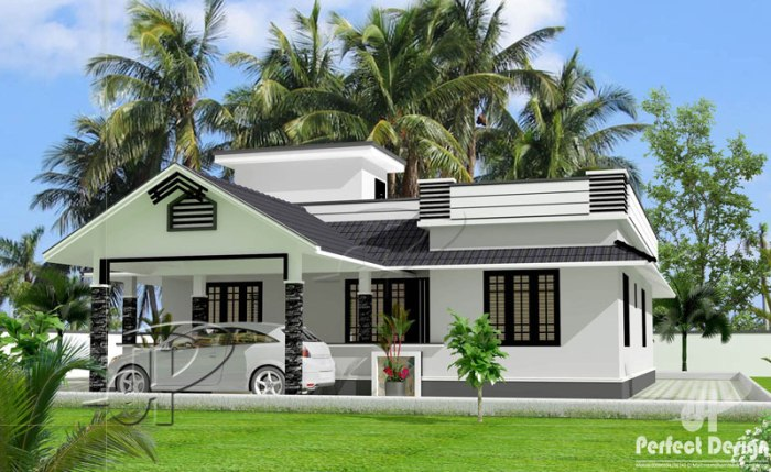 One storey Home Design front perspective