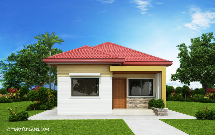 SHD 2017032 DESIGN5 View02 - 50+ Simple Small House Design 2 Rooms PNG