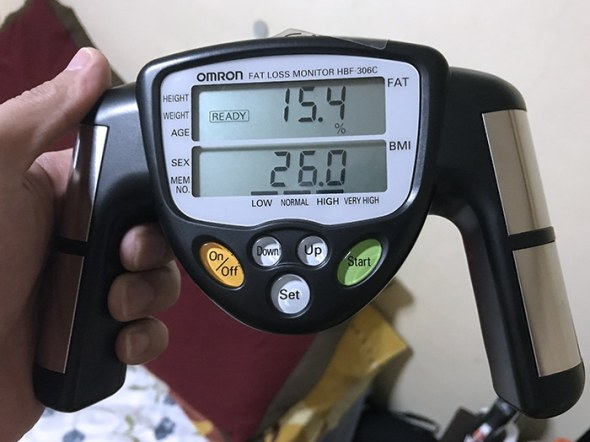 Omron Fat Loss Monitor HBF-306C sample result