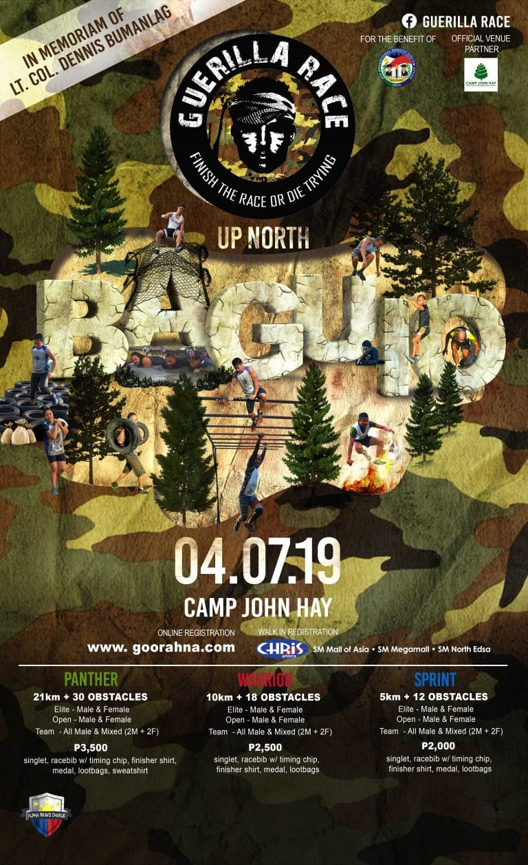 guerilla race up north baguio city 2019 event pinoy fit buddy