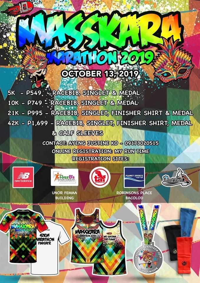 Masskara Marathon 2019 poster