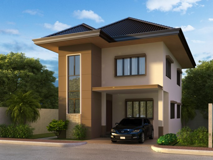 Two Story House Plans Series  PHP 2014004 pinoy house plans 2014004 perspective