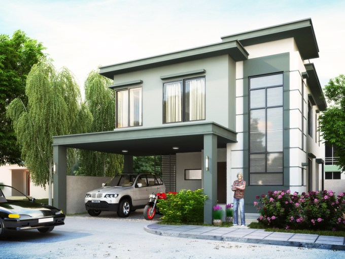 Two Story House Plans Series   PHP 2014007 two story house plans PHP2014007 perspective