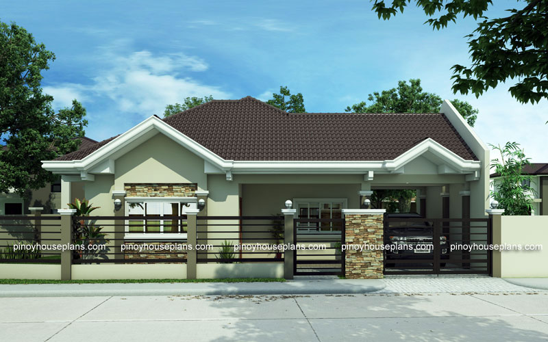 House Plans Is Committed Aluminum Framed Sliding Window Spanish Type Gutter And Stone Veneer Are The Main Features On Pinoy