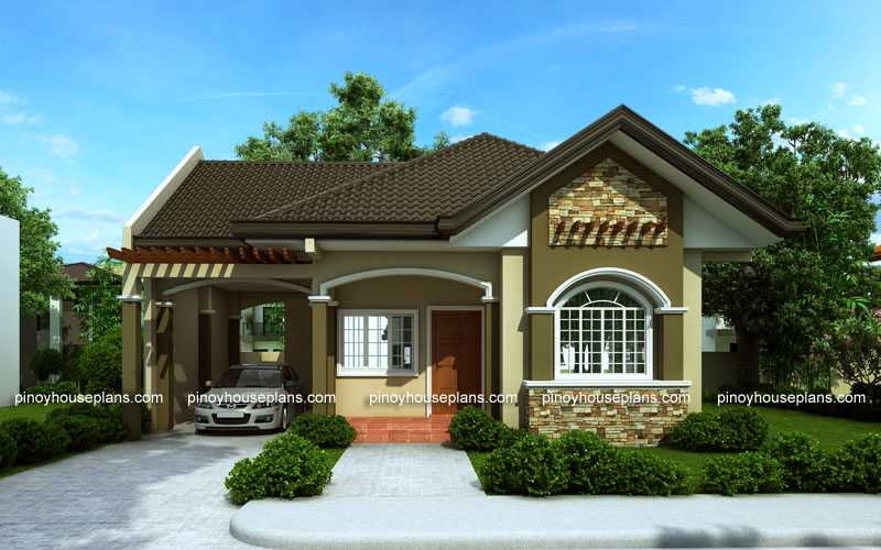 Bungalow house designs series  PHP 2015016   Pinoy House Plans Pinoy House Plan PHP 2015016 View02