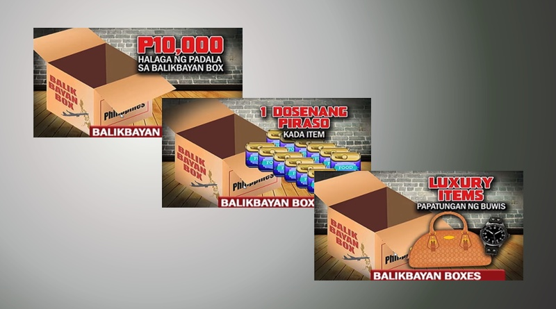Items prohibited inside balikbayan box