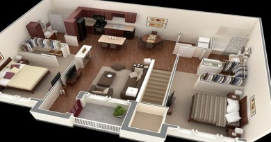 Top 15 Free 3D Floor Plan Designs For 2-BR Houses And Apartments