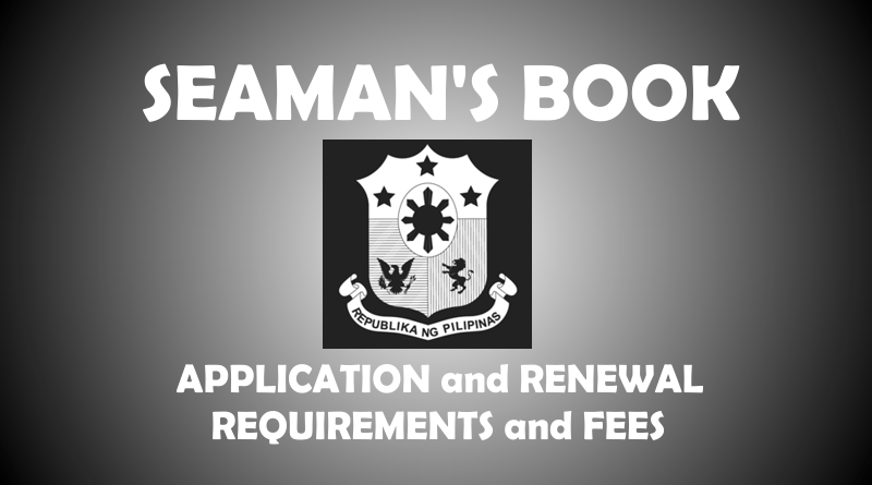 Seaman's Book Requirements and Fees for Application and Renewal