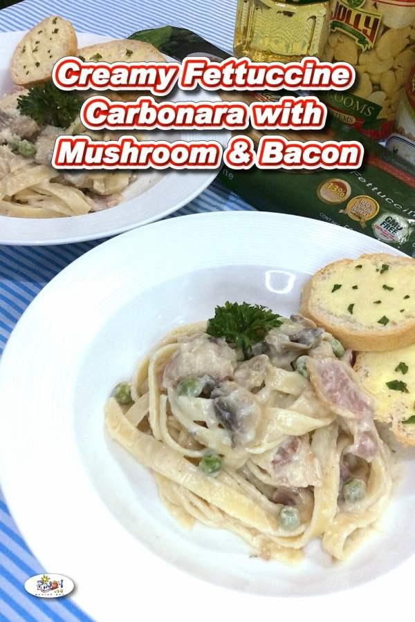 Creamy Fettuccine Carbonara Recipe