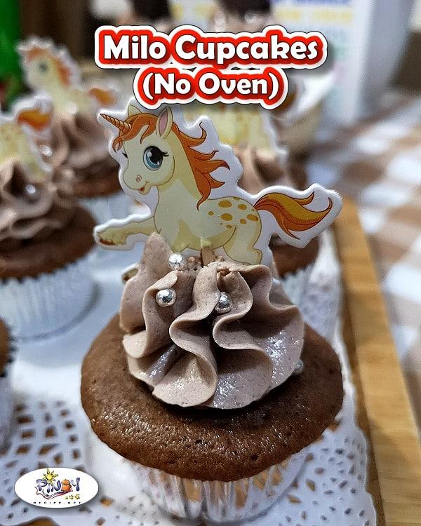 No Oven Milo Cupcakes