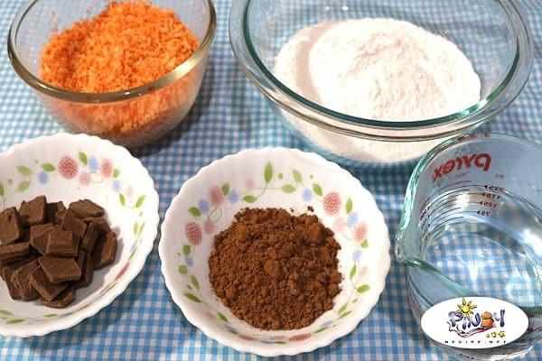 Ingredients of Choco Butternut Palitaw Balls