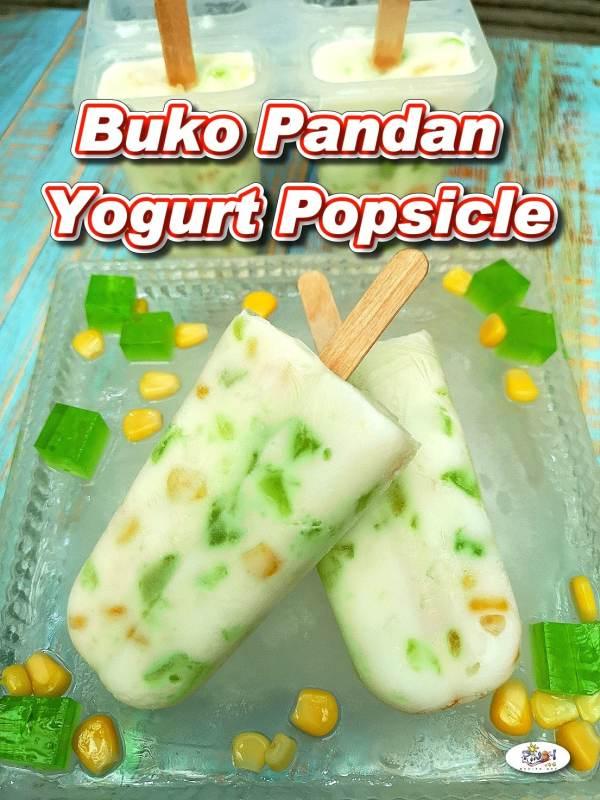 Buko Pandan Yogurt Popsicle