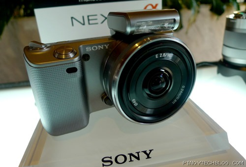Sony Alpha NEX-5 with the pancake lens