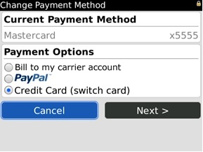 BB App World Payment Method