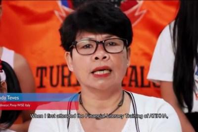 Minda Teves, overseas Filipino leader