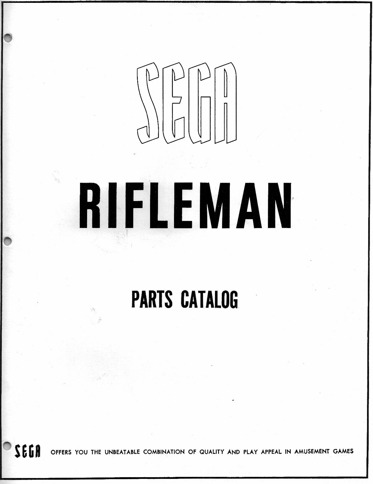 Sega Rifleman Coin Operated Gun Rifle Range Arcade Game
