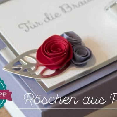 Quick-Tipp #10 – Kleine Rosen aus Papier