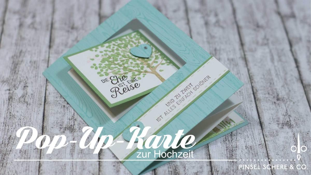 Pop-up-Karte zur Hochzeit