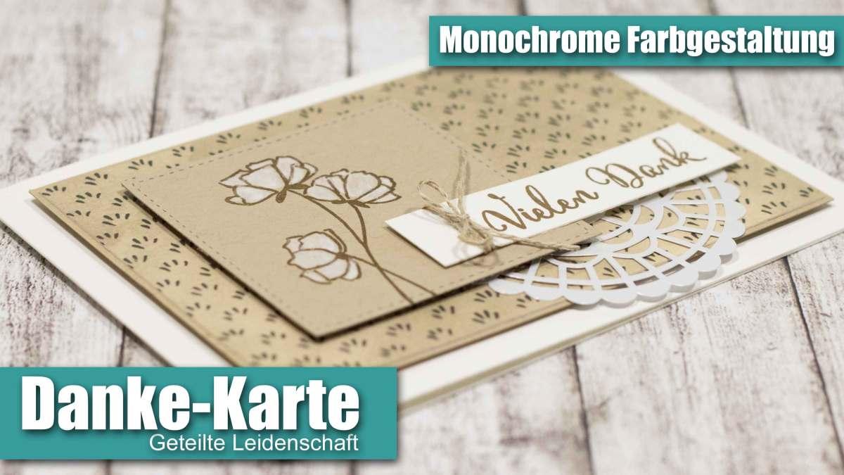 Monochromes Dankeschön