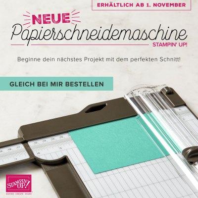 Neuer Papierschneider ab 1. November erhältlich