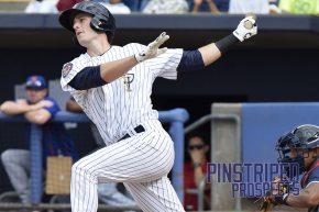 Staten Island Yankees left fielder Zack Zehner had one hit and walked once in his profefssional debut. (Robert M. Pimpsner)