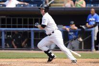 Griffin Gordon singles in the second inning (Robert M Pimpsner)