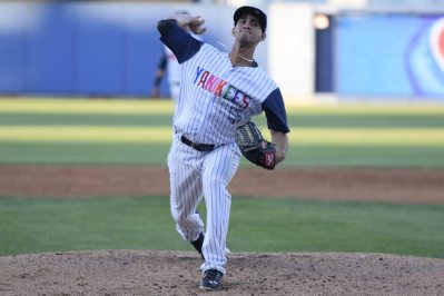 Luis Cedeno threw 80 pitches in 4 innings (Robert M Pimpsner)