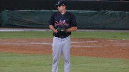 Chaz Hebert with the Tampa Yankees in 2015 (Bryan Green)