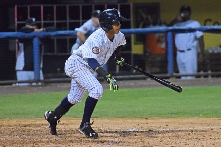 Thairo Estrada led the Yankees with 3 base hits (Robert M Pimpsner)