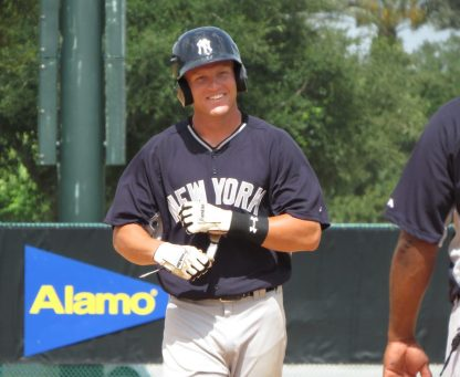 Trey Amburgey with the GCL Yankees (Bryan Green)