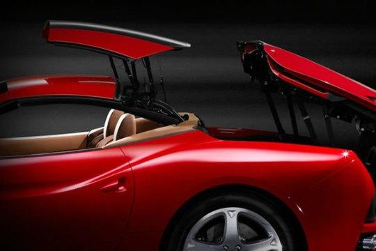 2013 Ferrari California retractable hardtop roof folding