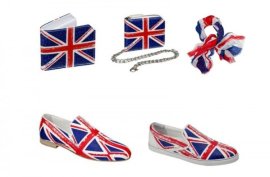 Jimmy Choo Union Jack accessories and shoes