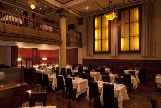 The Benjamin Steakhouse experience NYC Main dining hall