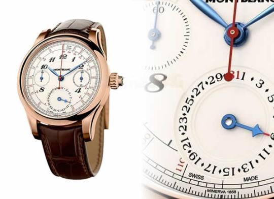 Montblanc Collection Villeret 1858 Vintage Tachydate luxury timepiece