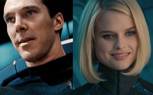 Benedict Cumberbatch and Alice Eve, Star Trek Into Darkness 3D