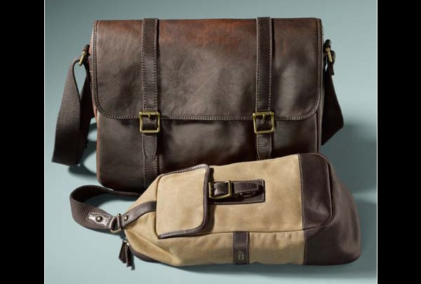 2013 Fossil Estate collection Messenger bag and Slingpack