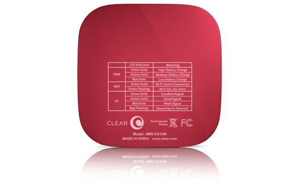 Clear Spot Voyager Limited Edition 4G portable hotspot, LED Information