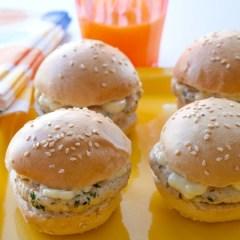 Mini-Hamburguesas de Pavo con Mostaza de Dijón