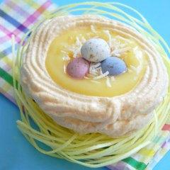 Nidos de Pascua de Merengue y Limón