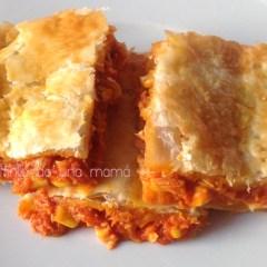 Empanada de Hojaldre con Tomate Frito y Maíz Especial Niños