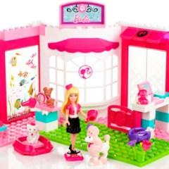 Maravillosa Tienda de Mascotas de Juguetes de Barbie Mega Bloks