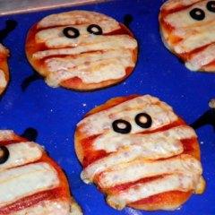 Mini Pizzas Momia para Halloween