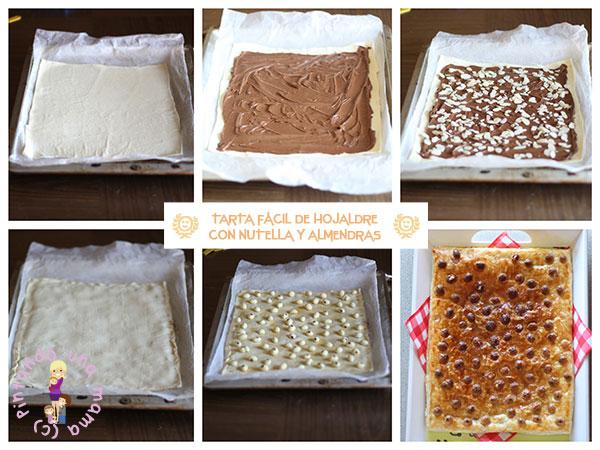 Tarta-hojaldre-nutella-almendras_Pitandounamama