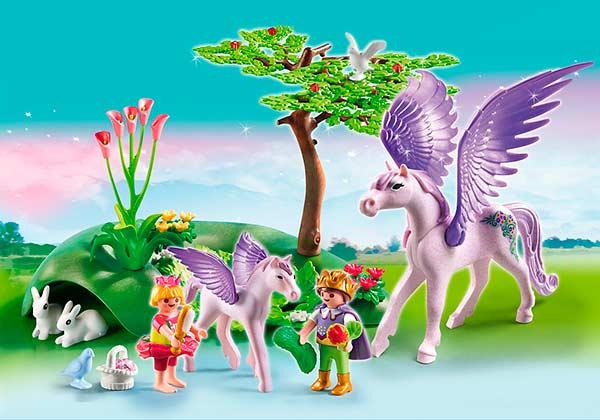Playmobil_Princesas_Hadas_Pegaso_PintandoUnaMama
