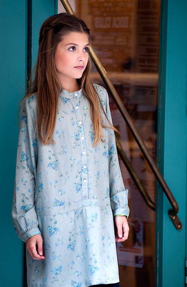 Vestido-Camisero-flores-turquesas
