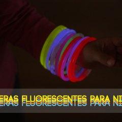 Divertidas Pulseras Fluorescentes de Colores